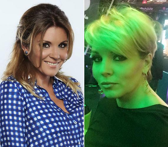 Liptai Claudia először csak vállig érőre vágatta hosszú haját, de alig egy hét múlva, szeptember közepén már a jobb oldalon látható, rövid verzióra váltott.