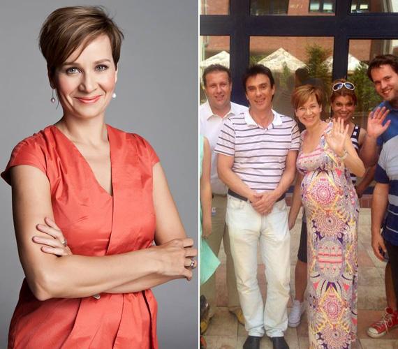 Bakos Piroskától egy Facebookra feltöltött közös fotóval búcsúztak el a Hír24-ben kollégái. A 39 éves műsorvezető kisfiút hord a szíve alatt.
