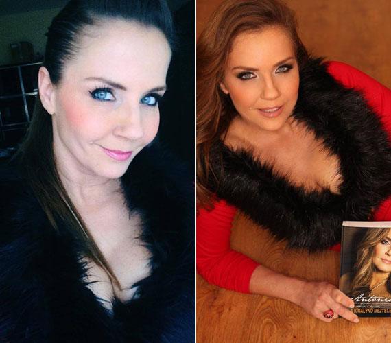 Bálint Antónia egy saját készítésű és egy profi fotóval is reklámozza könyvét a Facebook-oldalán. A két kép jó példája a Photosoppal és anélkül felvételeknek.