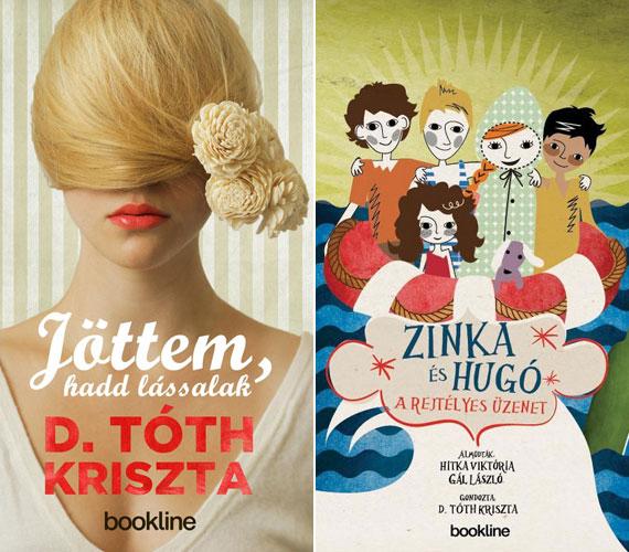 Miután a tévézést egy ideig szünetelteti, D. Tóth Kriszta írni kezdett: a Jöttem, hadd lássalak regényében az édesanyja történetét írta meg, a Zinka és Hugó - A rejtélyes üzenet című gyerekkönyvben pedig közreműködött.
