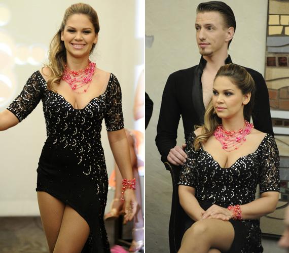 Dundika, Majka kedvese a modellkedés és a DJ-skedés után Mészáros Máté partnereként mutathatja meg tánctudását. A sajtótájékoztatón egy igencsak mélyre ejtett vállú, aszimmetrikus, fekete ruhában jelent meg.