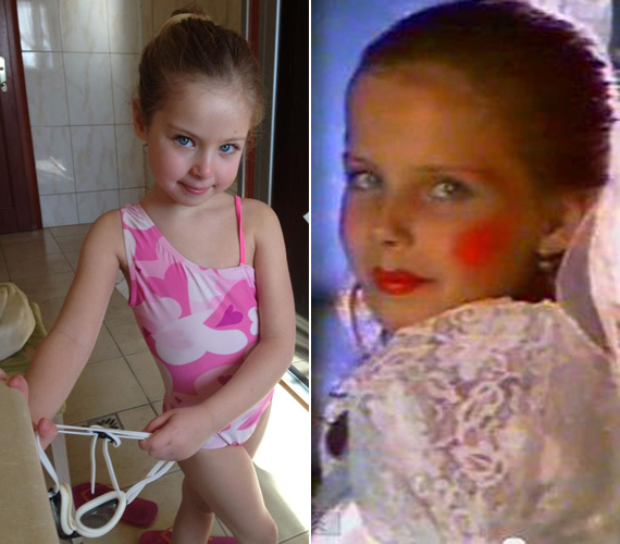 A baloldali képen Lilien, a jobboldalin a volt szépségkirálynő látható nyolc évesen. A hasonlóság kísérteties.