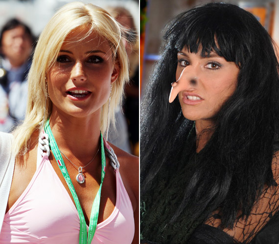 Balogh Edina szőke szépségből fekete hajú boszorkánnyá változott a Barátok közt forgatásán.