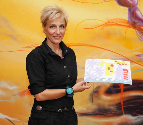 Így néz ki az RTL Klub műsorvezetőjének elkészült műve.