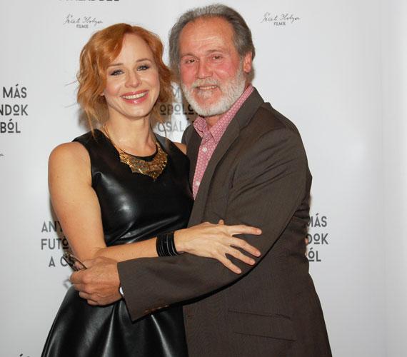 Ónodi Eszter és filmbéli férje, Gáspár Tibor Jászai Mari-díjas színész, rendező.