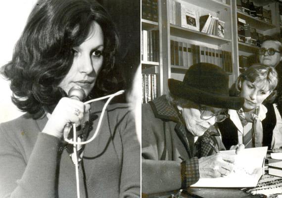 Az Ilyenek voltunk című rádióriportjára készülve 1973-ban, illetve 1985 májusában a vörös grófnővel, Andrássy Katinkával dedikálás közben.