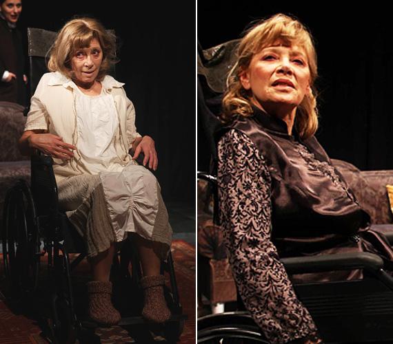 A február óta futó, A kolonc című elmejátékban - ahogy a Thália színház hirdeti színdarabját - a színésznő a felismerhetetlenségig elcsúnyult.
