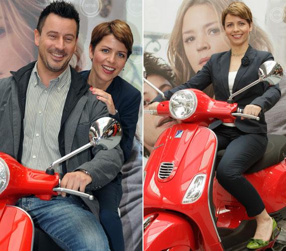 György-Horváth Zsuzsa, a Híradó műsorvezetője egyedül, majd Somogyi Zoltán, a Juventus rádió és az RTL Klub 8.08 című műsorának vezetője mögött is motorra pattant.