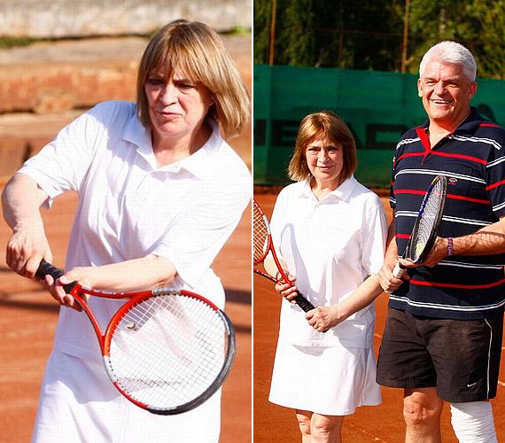Béres Alexandrán kívül Kovács Katinak is fontos a sport: a tavalyi EFOTT-on Szolnok polgármesterét hívta ki egy teniszmeccsre.