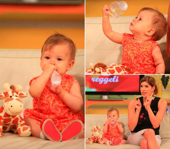 Panna baba korában többször is elkísérte édesanyját a kereskedelmi csatorna reggeli beszélgetős műsorába.