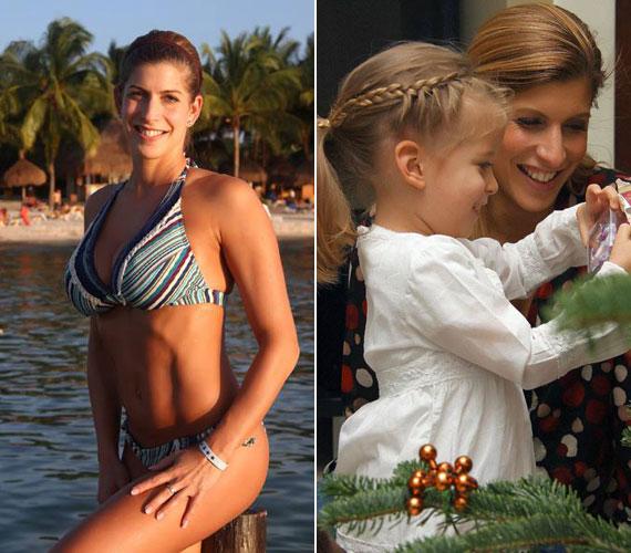 A karibi tengerparton eltöltött napok után a négyéves kis Pannával a középpontban a család december 27-én ünnepelte meg az igazi, havas karácsonyt.