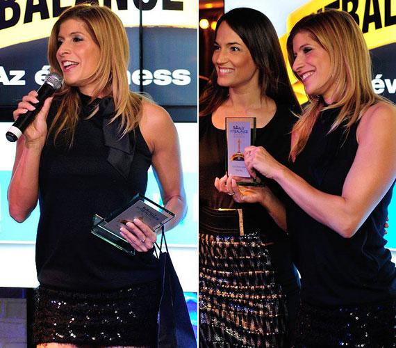 A november 27-én megrendezett FitBalance Award Díjátadó Gálán flitteres miniszoknyában adott át díjat.