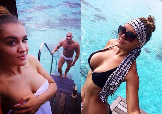 A 27 éves Pamela több szexi fotót is posztolt a nyaralásról, szemmel láthatóan remekül érezte magát a bőrében, amihez az újra megtalált szerelem is hozzájárulhatott.