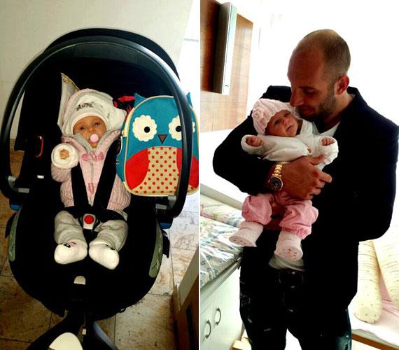 Hódi Pamela 2013. október 29-én adott életet Natasa Zselykének. A lassan három hónapos baba szülei szeme fénye.