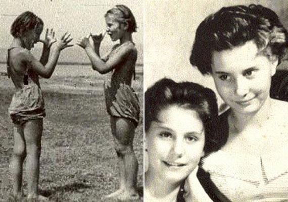 Bessenyei Ferenc első felesége Szederkényi Ada színésznő volt, akivel 1944-től 1959-ig voltak házasok. 1945-ben ikerlányaik születtek, Zsófia és Kata - képünkön. Négyen laktak Budapesten egy szobában.                         Fotó: bessenyei.hu