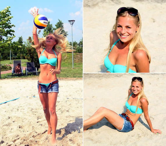 Iszak Eszter bikinire vetkőzve mutatta meg csodás alakját, majd mindent beleadva ütötte a labdát a strandröplabda-bajnokságon.