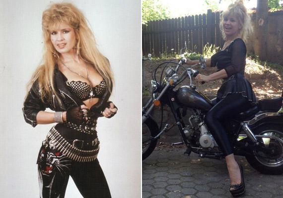 bíró Ica a kilencvenes évek elején Metal Ladyként és idén nyáron - 25 év alatt alakja szinte mit sem változott.