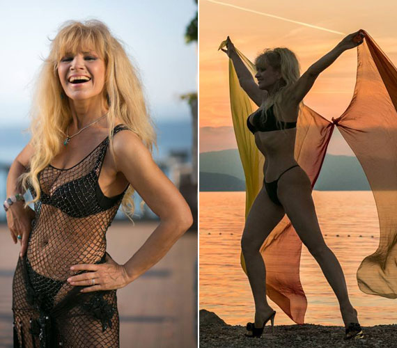 Bikinis alakját a fiatalok is megirigyelhetik, ha nem húzza be a hasát, akkor is remekül néz ki.