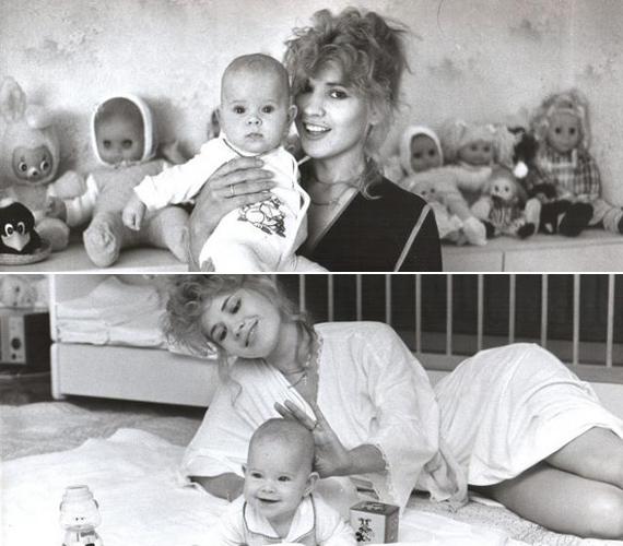 Kislánya, Brigitta megszületése után hamar visszanyerte karcsúságát.