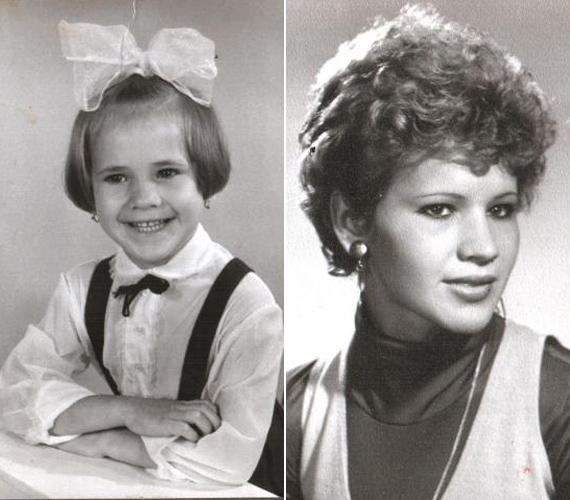 A bájos kislányból néhány év alatt egy igazi szépség cseperedett.