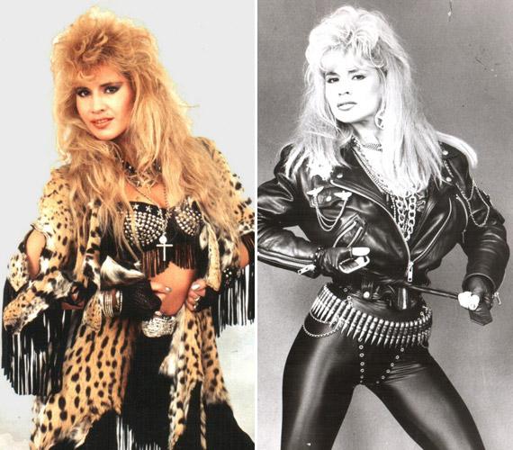 1990-ben a Pokolgép együttessel való közös munka eredményeként jelent meg első albuma Metal Lady címmel. A név azóta is az énekesnőn maradt.