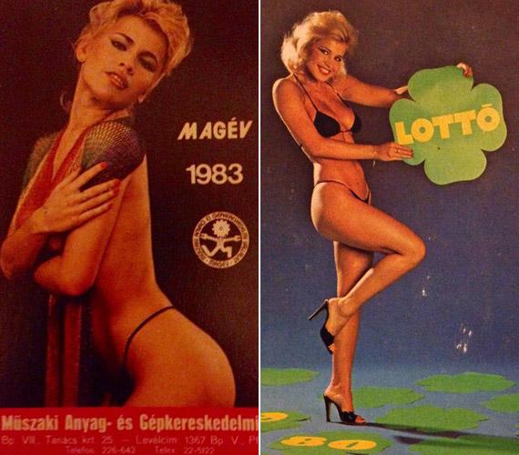 Ugyancsak két reklám a nyolcvanas évekből: még a lottót is a szőke szexszimbólummal reklámozták - természetesen apró bikiniben.