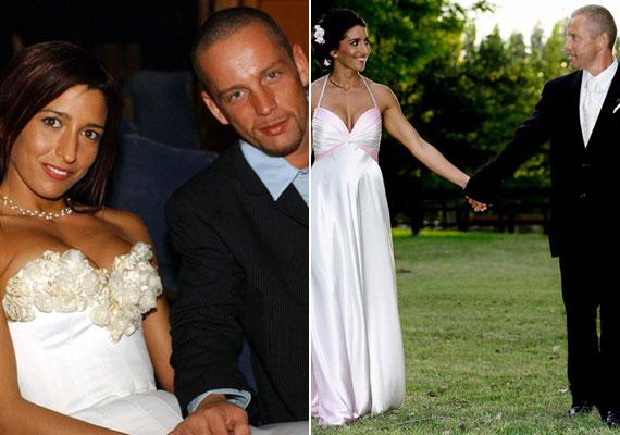 Schobert Norbi és Rubint Réka már háromszor házasodtak össze: a bal oldali fotó még 2002-ben, első esküvőjükön készült. A jobb oldali fotó a tízéves évfordulón, ahol a fitneszkirálynő harmadik gyermekükkel a pocakjában szervezte meg a titkos lagzit. A legutolsóra 2015-ben került sor Las Vegasban, amikor André Agassi és felesége, Steffi Graf látta őket vendégül.