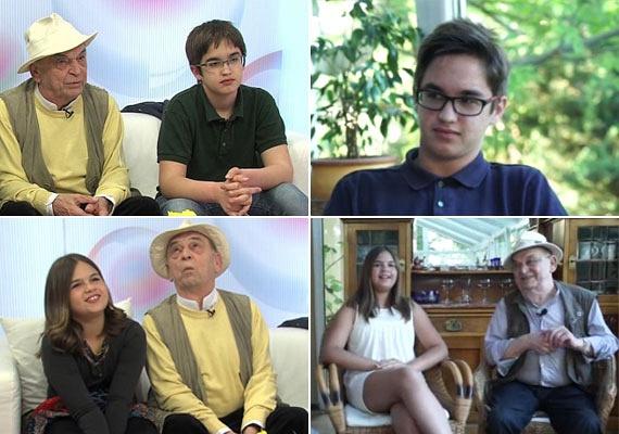 A bal oldali fotók két éve, a TV2 Babavilág című műsorában készültek, a jobb oldaliak pedig most, az RTL Klub Story Extra című műsorában. Hihetetlen, hogy két év alatt mennyit nőttek Bodrogi Gyula unokái.