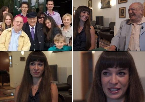 - Az egyetlen öröm az ember életében, hogy vannak unokái - nyilatkozta Klapka György, aki a hét unoka közül a legidősebb lánnyal, Almával mutatkozott a kamerák előtt. Az orvostanhallgató 26 éves, mint az aranyember legkisebb gyermeke, Szendi.