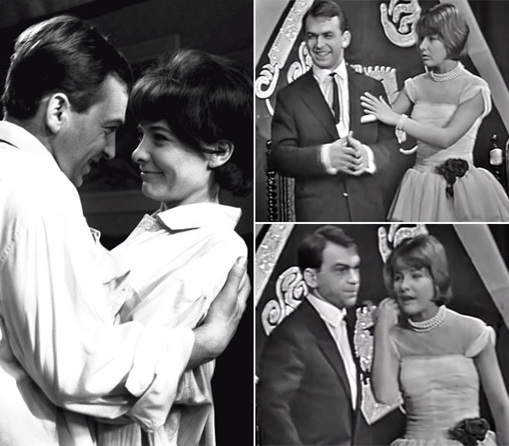 Első felesége Törőcsik Mari volt, akivel 1955-től 1964-ig volt együtt. A jobb oldali képek az Összeveszítő tárgyalás című ismert kabaré jelenetükből származnak.