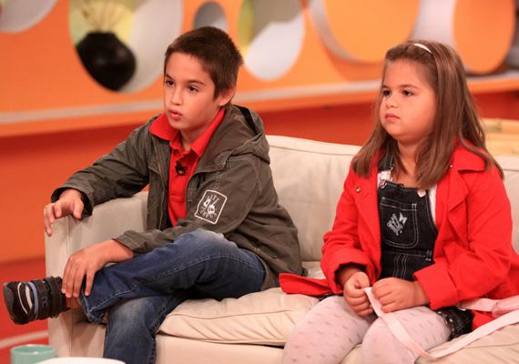 Bence és Enikő négy és fél évvel ezelőtt az RTL Klub reggeli műsorában szerepelt a nagypapával.