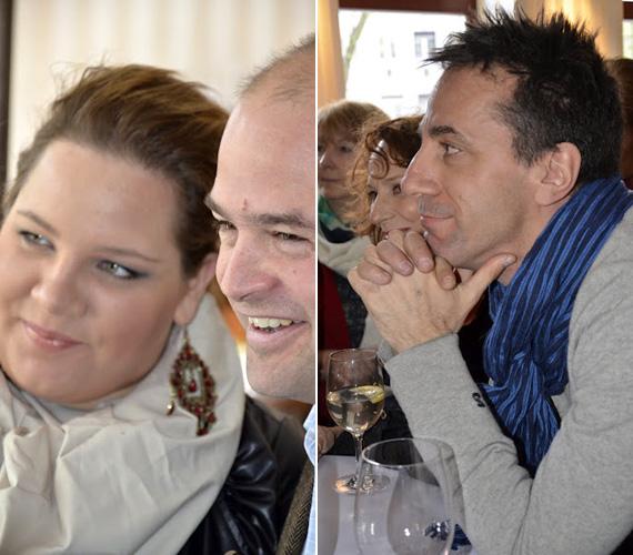 Tóth Vera és Csonka András is oda volt az ételekért, utóbbinak az aranygaluska különösen ízlett.