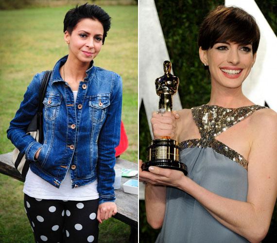 Miután Anne Hathaway levágatta hosszú hajfürtjeit, külsőre is jobban hasonlít egymásra a magyar és az amerikai színésznő. Bogdányi Titanilla szinkronizálta őt a Neveletlen hercegnő első és második részében, valamint A sötét lovag - Felemelkedés című filmben is.