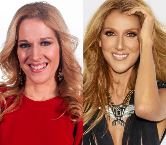Wolf Kati arcvonásai olyanok, mint a kanadai énekesnőé, Celine Dioné. A két sztár testalkatra is nagyon hasonlít, mindketten nagyon karcsúak és magasak.