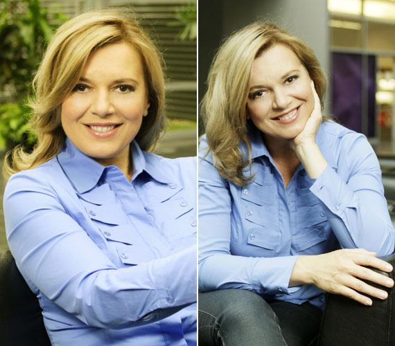 A csinos műsorvezetőt többnyire klasszikus vonalvezetésű ruhákban láthatjuk a képernyőn és a hétköznapokon.