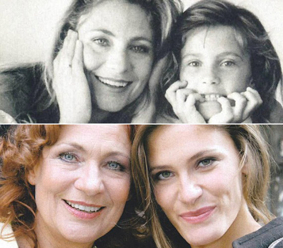Anya és lánya egy nyolcvanas években és az ezredforduló után készült felvételen.