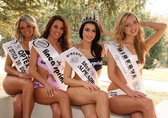 A Miss Alpok-Adria szépségverseny nemzetközi döntőjében is az ő fejére került a korona.