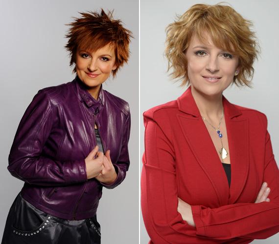 Volt vörös, rövid, egyenes haja is, erről váltott erre a nőies hajviseletre.