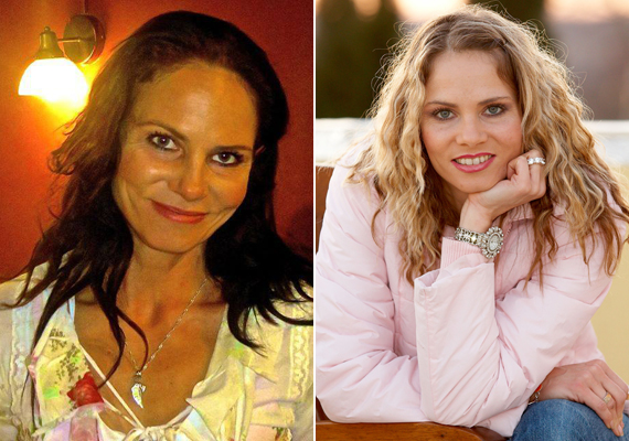 Brunner Márta az Új Színház sötét hajú színésznőjeként és a kilencvenes években a TV2 Mindent vagy semmit! című vetélkedőjének műsorvezetőjeként.