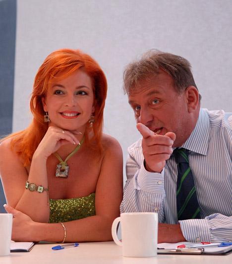 Keleti Andrea és Fábry SándorA táncosból lett műsorvezető és a nagydumás showman az első szériában kaptak helyet a zsűriben - Fábry kedvence Utasi Árpi volt, akit akkoriban a szárnyai alá vett.