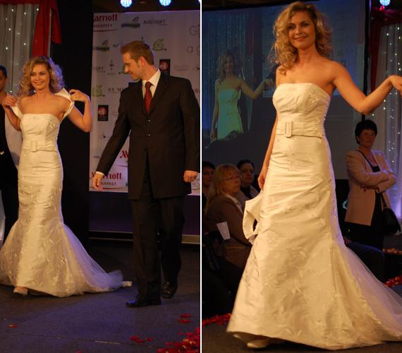 Bálizs Anett és Bozsó Péter kettőse elbűvölte a divatbemutató nézőit.