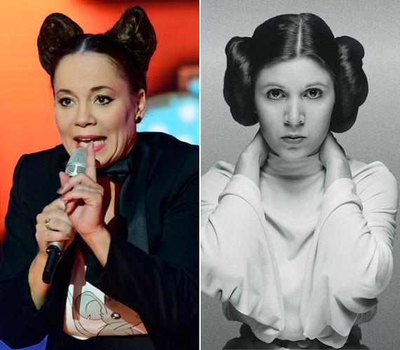 Csisztu Zsuzsa frizurája Leia hercegnő kontyaira emlékeztetett bennünket, csak mintha a fejtetőre lettek volna tolva.