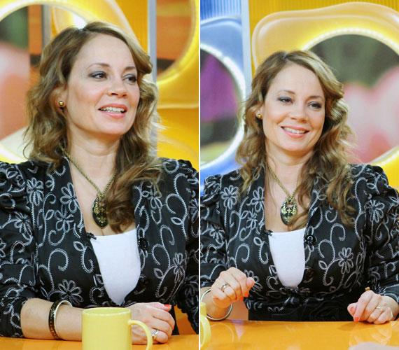 Tavaly augusztusban tőle szokatlan, lágy hullámokkal a hajában érkezett az RTL Klub Csak Csajok című műsorának stúdiójába. Sugárzott a boldogságtól - nem is csoda, ekkor már másállapotban volt.