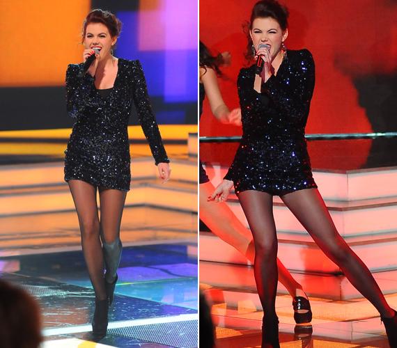 A fiatal énekesnő nem épp szégyenlős típus, szereti megmutatni formás lábait.