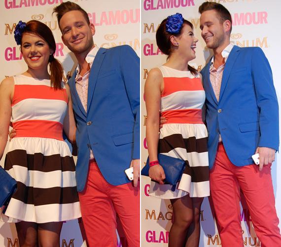 Idén márciusban a Glamour-gálán összeöltöztek párjával, az RTL Klub műsorvezetőjével.