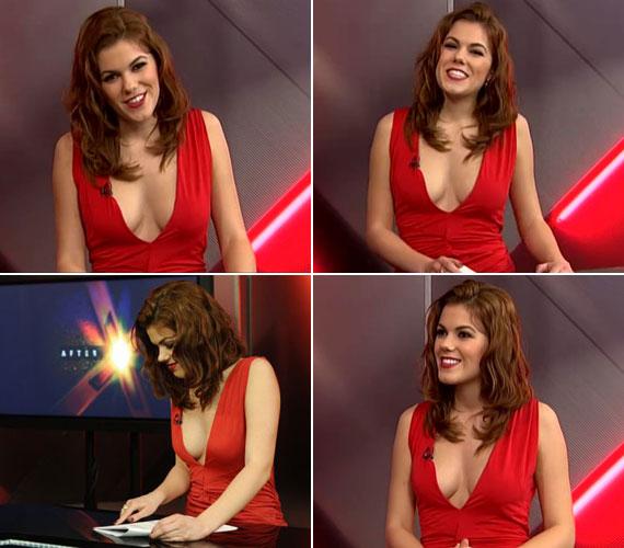 Az After X stúdiójában szerencsére mások voltak a fényviszonyok, így a 19 éves újonc műsorvezető ruháján nem ütött át semmi.
