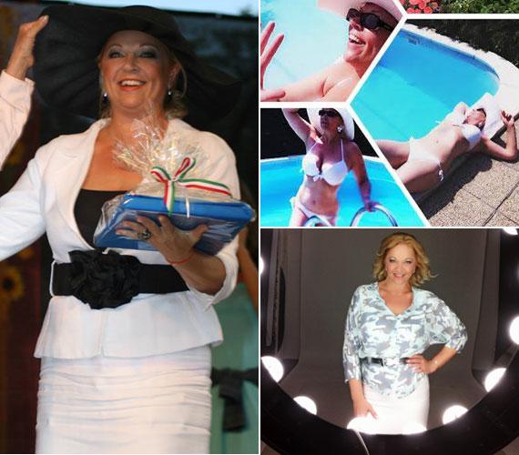 Csomor Csilla 2014. augusztus 20-án és idén nyáron. Közel az 50-hez már nem olyan könnyű fogyni, a színésznőnek mégis sikerült már nyolc kilót leadnia - bikinis fotói magukért beszélnek.