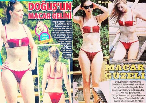 Dögös a bikini, ahogy a viselője is, nem csoda, hogy több török lap is megmutatta, milyen bombázó a ma már török filmekben szereplő magyar színésznő.