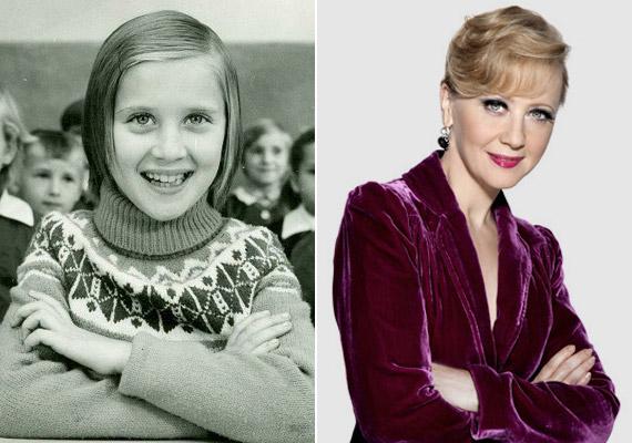 Eszenyi Enikő színésznő, a Vígszínház igazgatója több mint 40 évvel ezelőtt kisiskolásként.