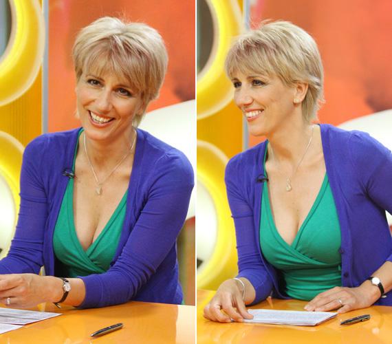 Barabás Éva, az RTL Klub műsorvezetője többnyire visszafogottan nőies ruhákban látható a képernyőn, ám az egyik nyári adásban ő is dögösebb volt a megszokottnál.